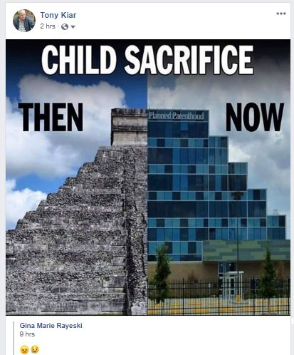 FB child sacrifice then and now